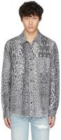 Amiri Grey Flannel Leopard Shirt
