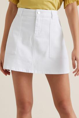 Seed Heritage A-Line Denim Mini Skirt