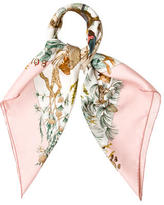 Hermes Au Coeur Des Bois Silk Scarf