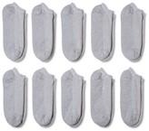 Gildan Men's P10 No show Casual socks Gray 6-12