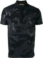 Valentino Rockstud camouflage polo shirt