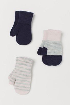 H&M 3-Pack Mittens