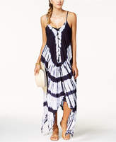 Raviya Tie-Dyed Handkerchief-Hem Maxi Dress Cover-Up Women's Swimsuit