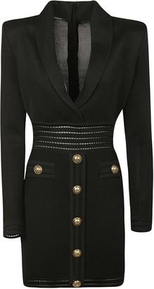 Balmain Button Studs Dress