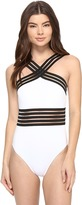 Kenneth Cole Stompin' In My Stilettos High-Neck One-Piece Women's Swimsuits One Piece