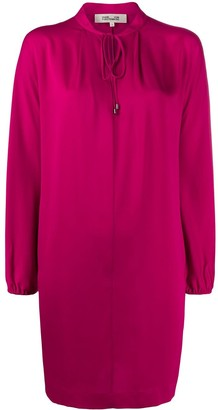 Diane von Furstenberg drawstring-neck midi dress