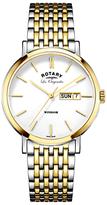 Rotary Les Originales Windsor Day Date Bracelet Strap Watch