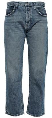 Current/Elliott The Original Cropped Mid-rise Straight-leg Jeans