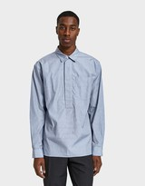 Margaret Howell Wide Placket Shirt in Navy