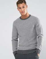 Tommy Hilfiger Jumper With Fine Stripe In Grey