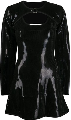 David Koma Sequin Mini Dress