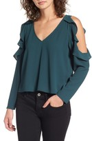Leith Women's Cold Shoulder Ruffle Top