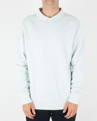 Soulland Louis Sweatshirt Light Blue - S