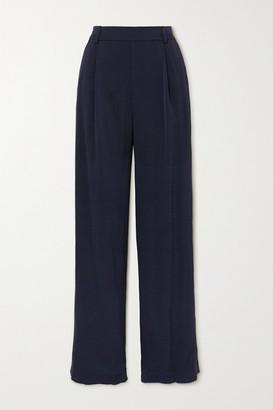 Vince Crepe Wide-leg Pants - Navy