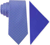 Asstd National Brand Glow in the Dark Tonal Check Tie and Pocket Square Set
