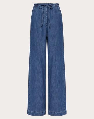 Valentino Jeans In Denim Chambray Women Navy Cotton 100% 38