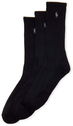 Polo Ralph Lauren 3-Pack Logo Crew Socks Gift Box
