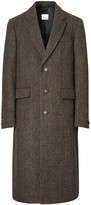 Burberry herringbone tweed coat