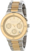 Kenneth Jay Lane Women's KJLANE-2130 Chronograph Gold Dial Two Tone Stainless Steel Watch