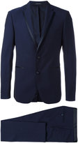 Tagliatore contrast trim dinner suit - men - Cupro/Virgin Wool - 48
