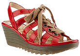 Fly London Multi-strap Lace-up Wedge Sandals - Yito