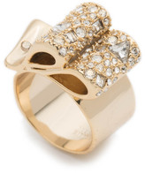 Alexis Bittar Crystal Encrusted Ribbon Ring