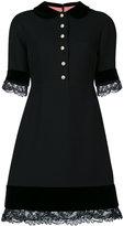 Gucci lace detail dress - women - Silk/Cotton/Spandex/Elastane/Wool - 40