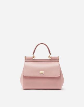 Dolce & Gabbana Sicily Mini Bag In Dauphine Calfskin