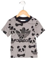 adidas Boys' Panda Print Short Sleeve Shirt