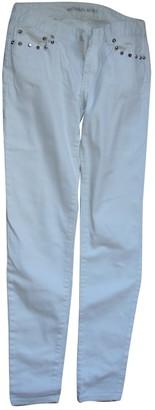 Michael Kors White Cotton Trousers