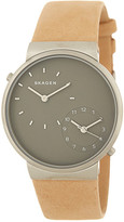 Skagen Men&s Ancher Dual Time Leather Strap Watch
