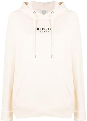 Kenzo logo print cotton hoodie