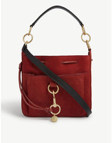 See by Chloe Tony medium suede and leather bucket bag