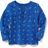 Old Navy Printed Henley for Toddler Boys