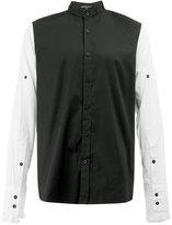 Ann Demeulemeester two-tone buttoned shirt