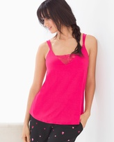 Soma Intimates Pajama Cami With Lace Pink Punch