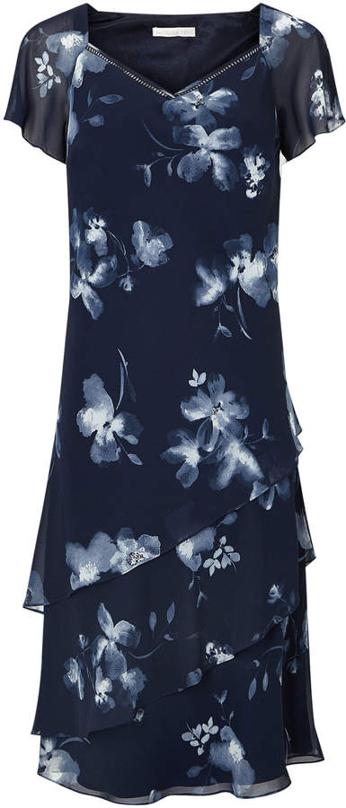 Jacques Vert Layers Soft Print Dress