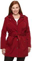 Croft & Barrow Plus Size Hooded Rain Jacket