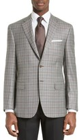 Canali Men's Classic Fit Plaid Silk & Wool Sport Coat