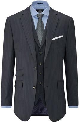 Skopes Wilkinson Navy Pinstripe Suit Jacket