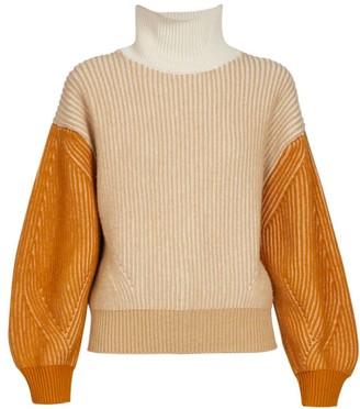 Kenzo Fisherman Two-Toned Turtleneck Sweater