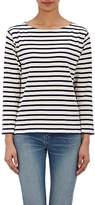 Saint Laurent Women's Distressed Striped Top