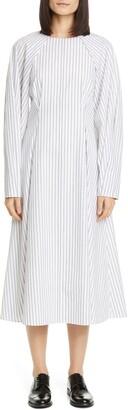 PARTOW River Long Sleeve Midi Dress