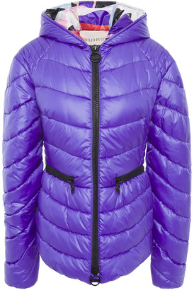 Emilio Pucci Quilted Shell Hooded Jacket