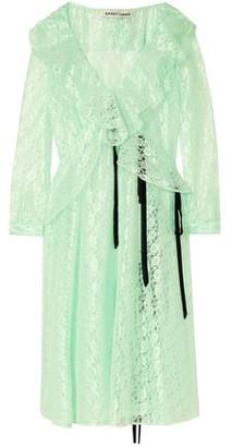 Sandy Liang Carmen Ruffled Lace Midi Dress