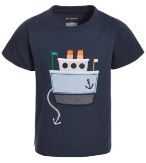 First Impressions Toddler Boys Chambray Boat Cotton T-Shirt, Created for Macy's