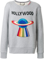 Gucci embroidered planet sweatshirt