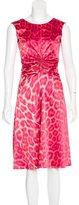 Just Cavalli Leopard Print A-Line Dress