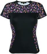 Versace Flower Thrift paneled T-shirt - women - Polyamide/Polyester/Spandex/Elastane - 00