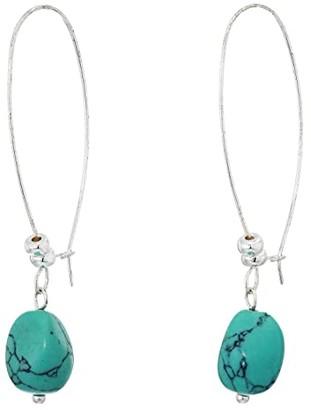 Robert Lee Morris Stone Shepherd's Hook Earrings (Turquoise) Earring